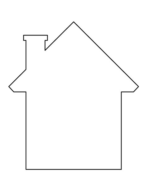 house pattern printable house template