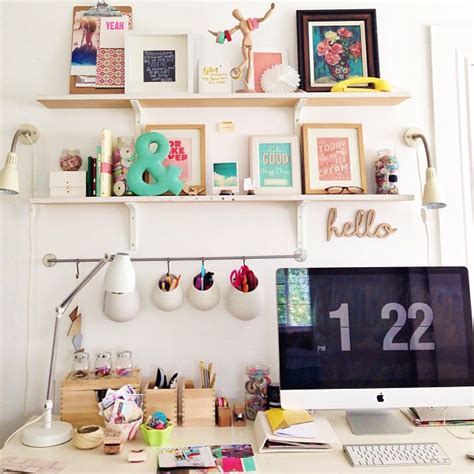 office desk decoration workspace desk home office apartment house