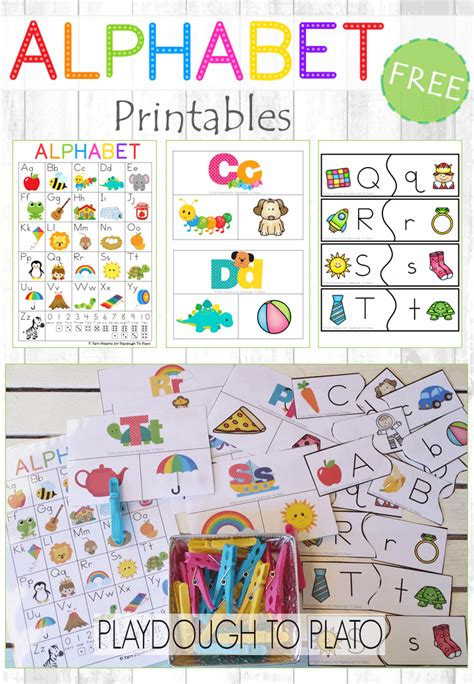 printable abc puzzle free alphabet printables playdough to plato