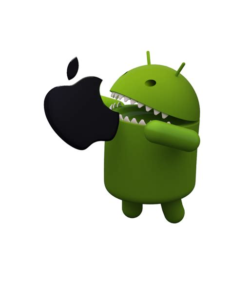 android vs apple bugdroid 2 android vs apple by badaworld fr on deviantart