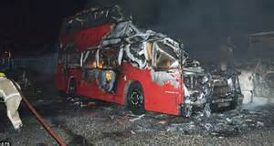 Barn Yard Doors Twenty Buses Gutted And 200 People Forced To Flee Their