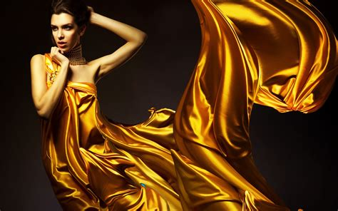 gold wallpaper models girl in golden color dress wallpapers and images