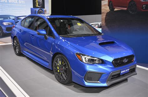 subaru si 2018 subaru wrx and wrx sti debut at 2017 detroit auto show