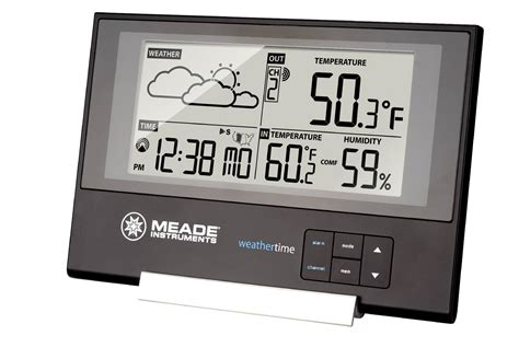 meade te346w slim line personal weather station with