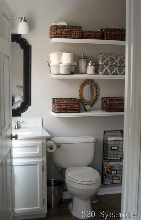 storage idea for small bathroom toilet shelves the best of small bathroom ideas for