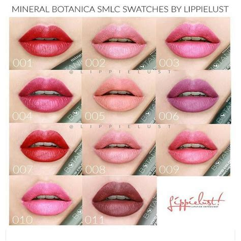 Lipstik Botanical mineral botanica soft matte lip ready all shades elevenia
