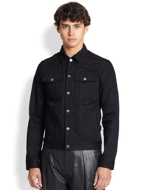 Promo Jaket Denim Hoodie Black Garment Murah givenchy denim jacket in black for lyst