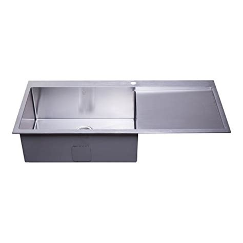 top mount stainless steel sink with drainboard bai 1233 48 handmade stainless steel kitchen sink