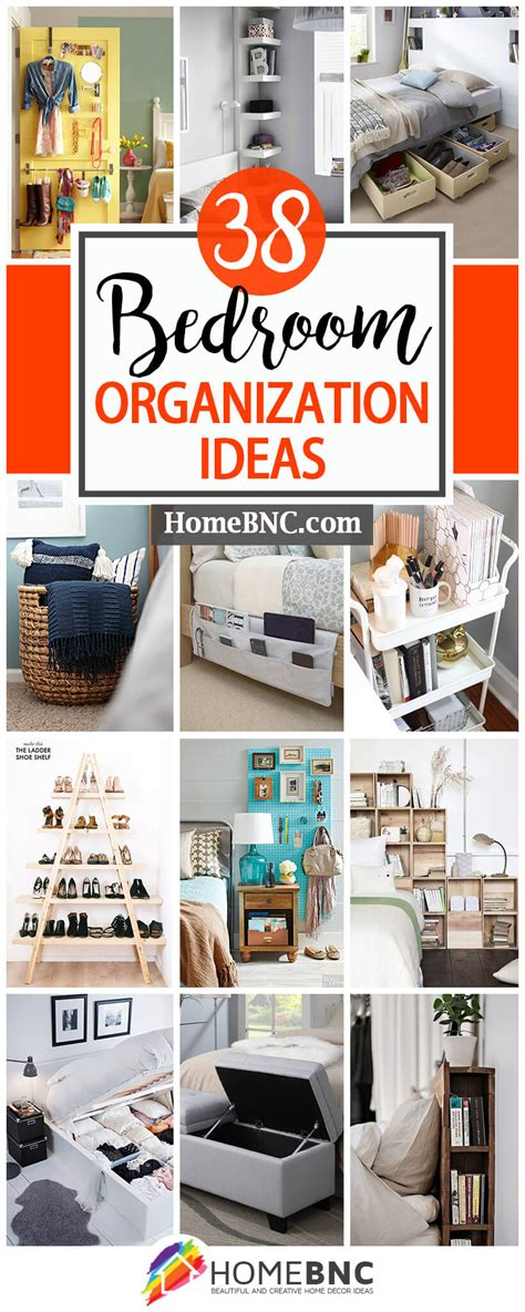 bedroom organization ideas  projects