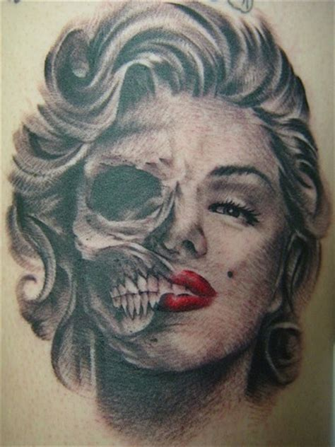 tattoos by nick flanagan marilyn monroe skull