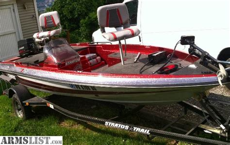 stratos boats gear armslist for sale stratos bass boat 16 foot 1994 70hp