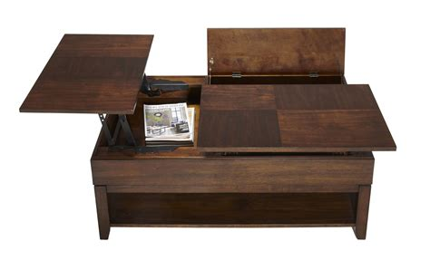 best table double lift top coffee table in regal walnut roy home design