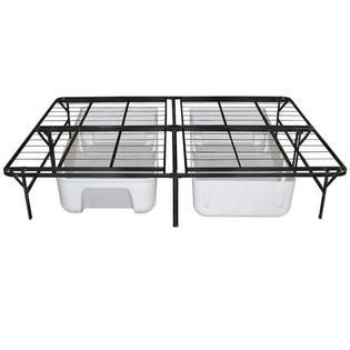 bed frames kmart night therapy deluxe platform metal bed frame foundation