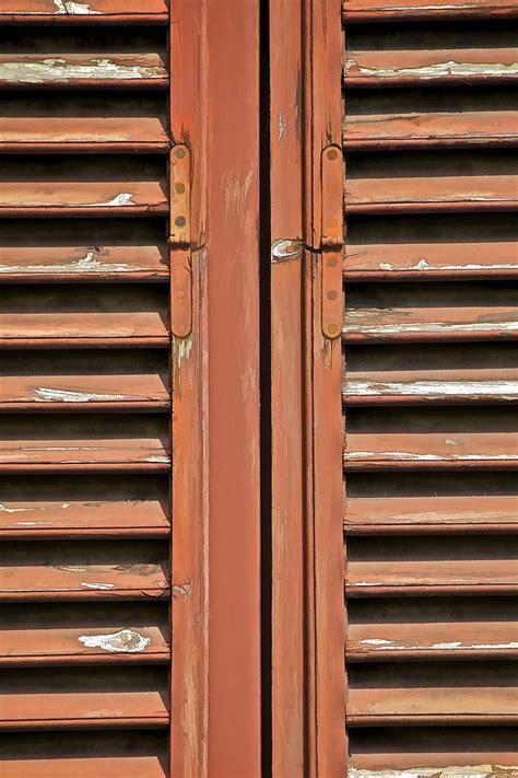 rustic wood window shutters  tuscany photograph  david