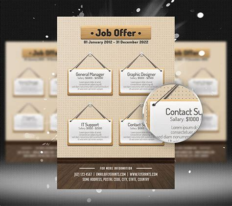 job offer flyer template by flashdo on deviantart