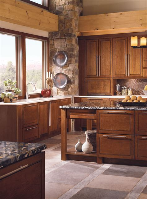 kraftmaid mandolay cherry cognac kitchen kitchen