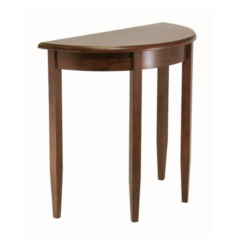 Shop Winsome Wood Concord Antique Walnut Half Round Half Sofa Table
