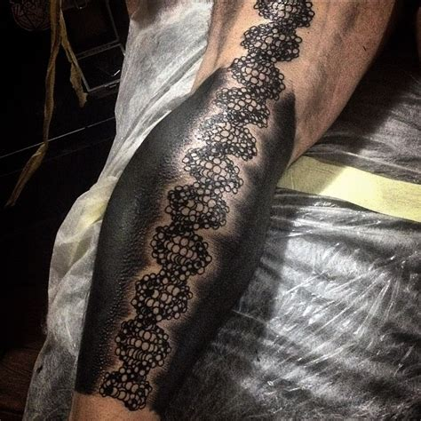 huge graphic dna tattoo on leg best tattoo ideas gallery