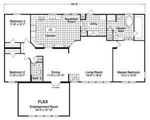 Bonanza House Floor Plan The Bonanza Flex Scxe64f1 Home Floor Plan Manufactured