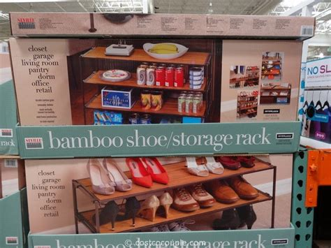 costco shoe storage seville classics bamboo shoe storage rack