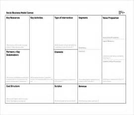 social enterprise business plan template business model canvas template 20 free word excel pdf