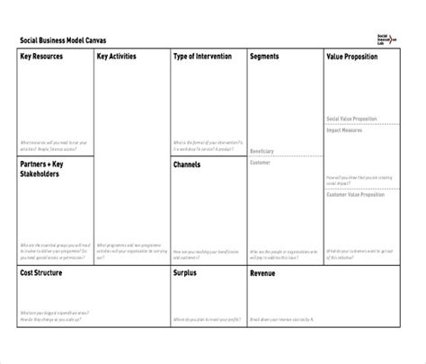 business canvas template business model canvas template 20 free word excel pdf