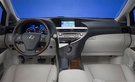 lexus rx interior car and driver