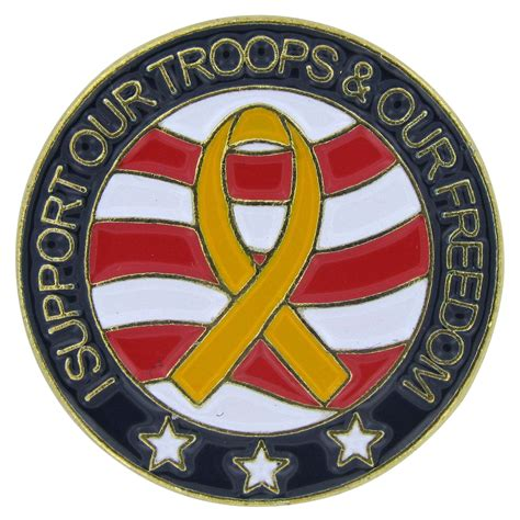 pin by sheila states on for the home decor design i i support our troops and our freedom round lapel pin