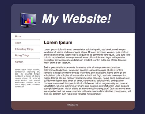 about page html template template tutorial