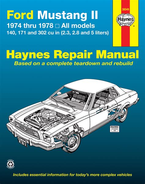 car repair manuals online free 1974 ford mustang lane departure warning ford mustang ii 1974 1978 4 cylinder v6 v8 haynes repair manual haynes manuals