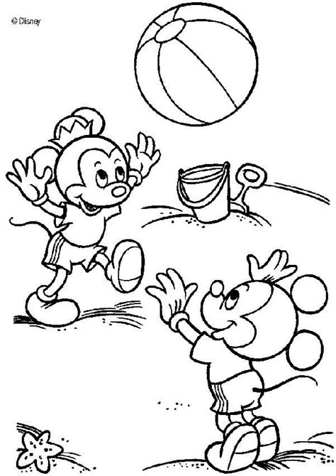 mickey mouse beach coloring pages mickey mouse s nephews on the beach coloring pages