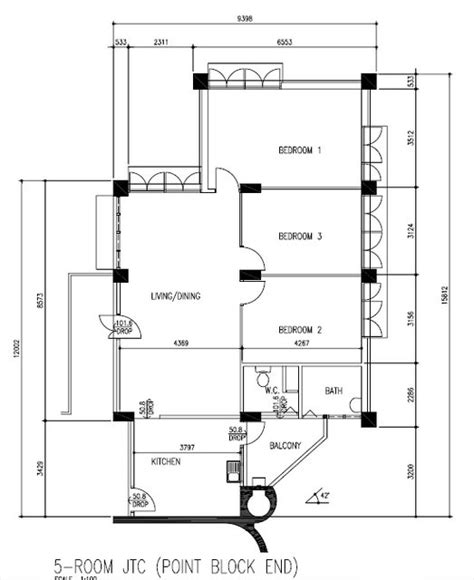 singapore hdb house floor plan house plans jtc 5 room flat