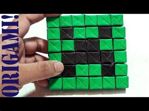 How To Make A Origami Creeper - minecraft mini creeper part 1 sonobe daily