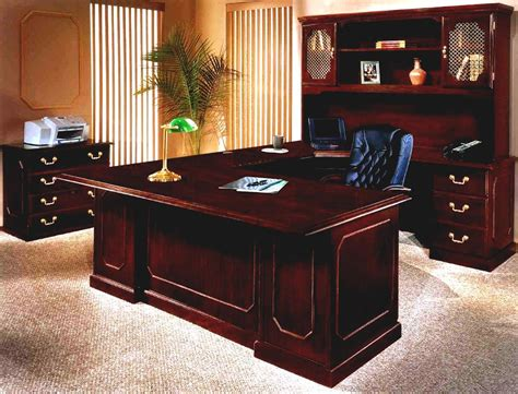 Office Executive Desk Furniture Luxury Executive Office Furniture Suites With Wooden Workdesk And Cool Lighting Goodhomez