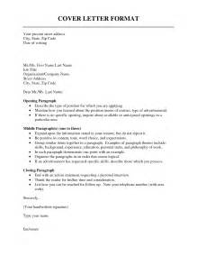 Format Of A Cover Letter For A Resume cover letter format resume cv exle template