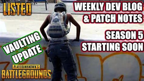 pubg vaulting update vaulting update weekly dev blog pubg listed