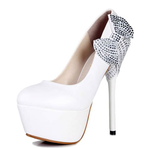 white high heels shoes white silver dimonds high heels white high heels