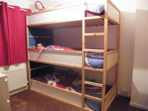 ikea bunk bed space saving kids triple decker beds ikea hackers ikea