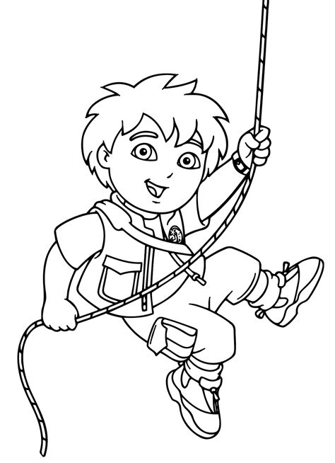 dora and diego coloring page dora diego coloring pages coloring home