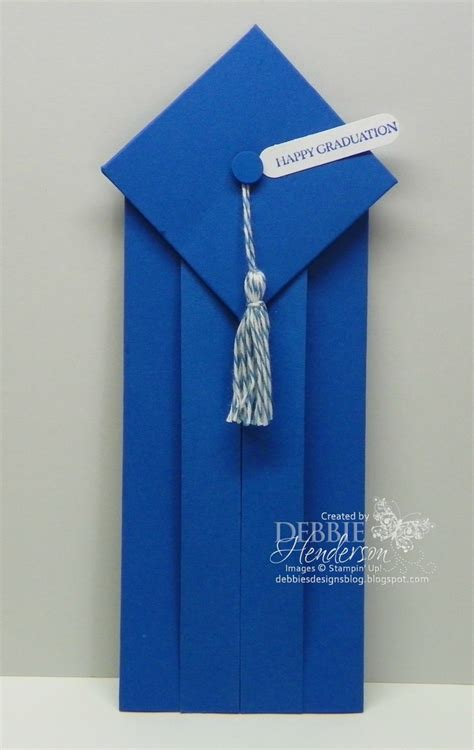 Origami Graduation Hat - graduation card