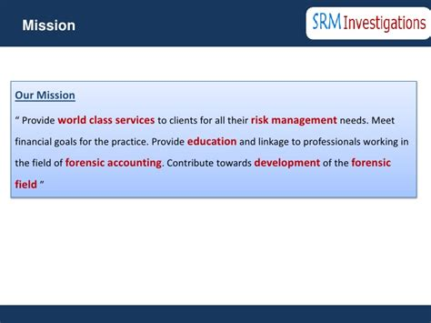 Srm Mba Finance by Srm Investigations Brochure