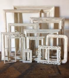 empty picture frames set of 11 antique white shabby chic