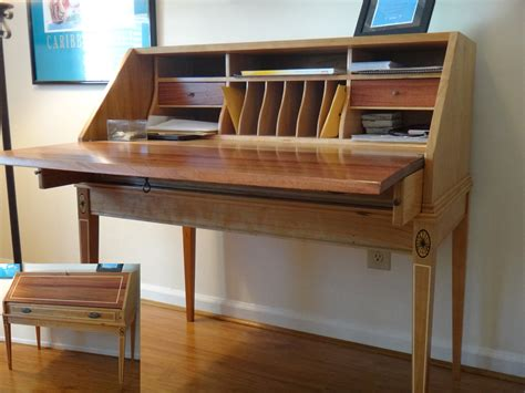 Secretay Desk by Desk Finewoodworking