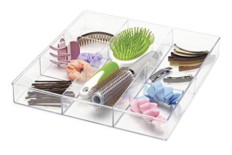 whitmor drawer organizer whitmor 6 section drawer organizer clear