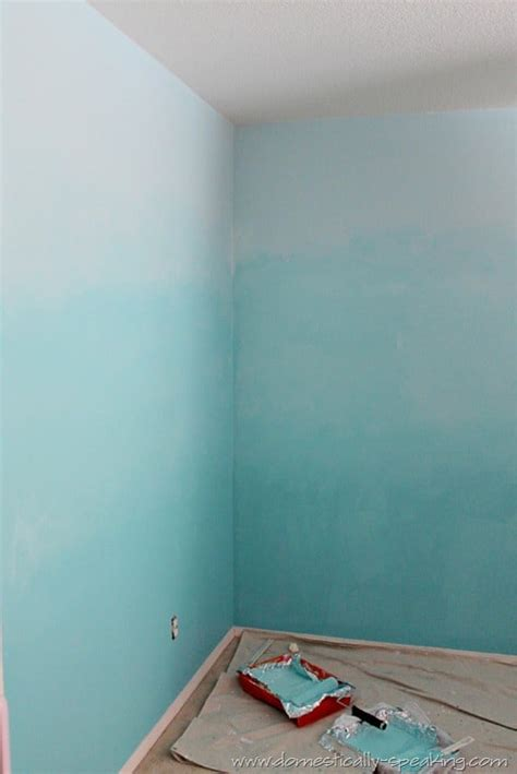 Ombre Walls Tutorial | ombre bedroom walls tutorial domestically speaking