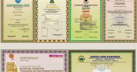 desain sertifikat cdr kumpulan desain sertifikat keren desain piagam coreldraw