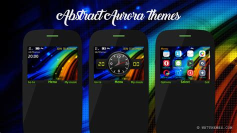 themes of nokia asha 201 abstract aurora theme asha 210 205 302 320x240 s40 asha