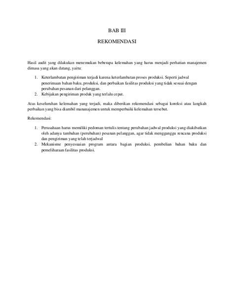 Pesanan An Sadit tugas akhir laporan audit audit kinerja manajemen