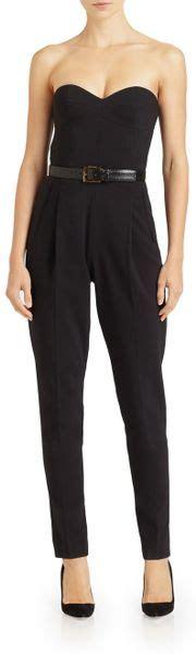 Who Wore It Better Michael Kors Black Strapless Jumpsuit by Michael Kors Strapless Jumpsuit In Black Lyst