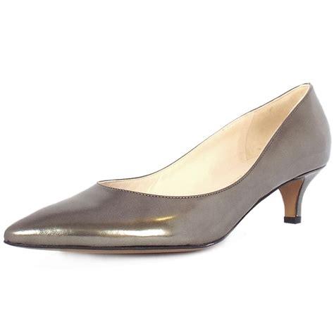 metallic shoes kaiser rona dressy kitten heel court shoes in